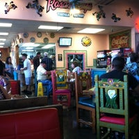 Photo taken at Rosa's Cafe and Tortilla Factory by Stephanie C. on 8/14/2011