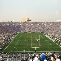 Photo taken at Notre Dame Stadium by Jessie D. on 9/3/2011