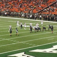 Photo taken at Aloha Stadium by Deejay M. on 10/23/2011