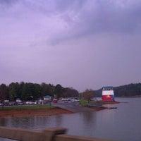 Photo taken at Clarks Bridge Park Boat Ramp by Kela M. on 3/17/2012