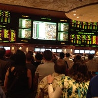 Photo taken at The Mirage Race & Sports Book by Rishi K. on 5/5/2012