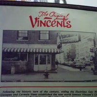 Photo taken at The Original Vincent's by Jennifer S. on 3/29/2012