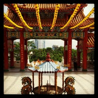 Photo taken at Thean Hou Temple (天后宫) by Rayson S. on 4/13/2012