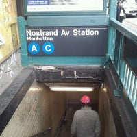 Photo taken at MTA Subway - Nostrand Ave (A/C) by Avian A. on 11/21/2011