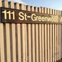 Photo taken at MTA Subway - 111th St/Greenwood Ave (A) by Tyler T. on 4/10/2012