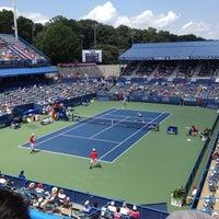 Photo taken at William H.G. Fitzgerald Tennis Stadium by Ricardo T. on 8/5/2012