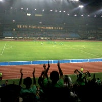 Photo taken at Stadion Gelora Bung Tomo by yudha s. on 2/24/2012