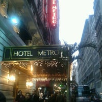 Photo taken at Hotel Metro by Jill K. on 12/9/2011