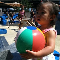 Photo taken at Imagination Playground at Burling Slip by Vincent C. on 8/4/2012