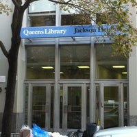 Photo taken at Queens Library at Jackson Heights by Nathan B. on 10/20/2011