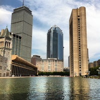 Photo taken at Christian Science Plaza by Georgy C. on 7/6/2012