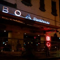 Photo taken at BOA Steakhouse by Ana F. on 10/9/2011