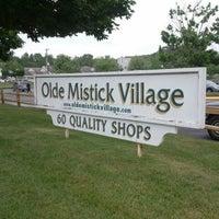 Photo taken at Olde Mystic Village by Jamie Y. on 6/2/2012