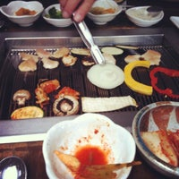 Photo taken at Wharo Korean BBQ by Sara T. on 5/7/2012