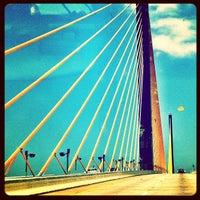 Photo taken at Sunshine Skyway Bridge by Carley A. on 6/14/2012