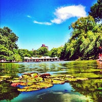 Photo taken at Central Park Boathouse by Stanley S. on 6/27/2012