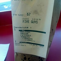 Photo taken at Five Guys by Brenton R. on 1/9/2012