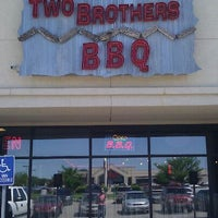 Photo taken at Two Brothers BBQ by LaShay B. on 4/21/2012