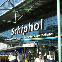 Photo taken at Amsterdam Airport Schiphol (AMS) by Felipe on 3/11/2012
