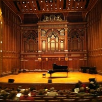 Photo taken at New England Conservatory's Jordan Hall by BGlee L. on 1/30/2012