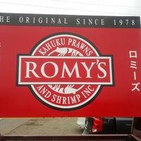 Photo taken at Romy's Kahuku Prawns & Shrimp Hut by Mike C. on 6/8/2012