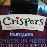 Photo taken at Crispers Fresh Salads, Soups and Sandwiches by Brittany C. on 8/26/2012