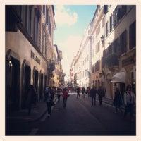 Photo taken at Via del Corso by Ufuk B. on 4/12/2012