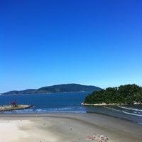 Photo taken at Praia do José Menino by Thales S. on 6/2/2012