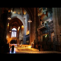 Photo taken at Liverpool Cathedral by Aaron A. on 3/1/2012