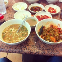 Photo taken at Myung Dong Kal Guksu by Cristian L. on 4/6/2012