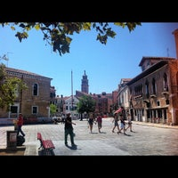 Photo taken at Campo Santa Margherita by Gabriel M. on 8/16/2012