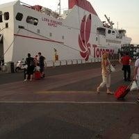 Photo taken at Porto di Piombino by Sara F. on 7/6/2012