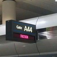 Photo taken at Gate A44 by Kumaran B. on 3/23/2012