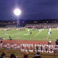 Photo taken at MHS Football Field by Tia N. on 10/21/2011