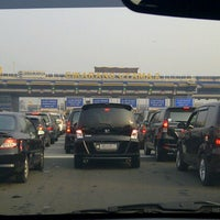 Photo taken at Gerbang Tol Cikarang Utama by Panut A. on 7/12/2012