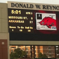 Photo taken at Donald W Reynolds Razorback Stadium by Melissa F. on 9/5/2011