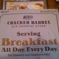 Photo taken at Cracker Barrel Old Country Store by Laura on 1/2/2012