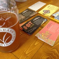 Photo taken at Tallgrass Brewing Co by Erica H. on 7/28/2012