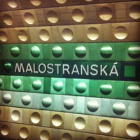 Photo taken at Metro =A= Malostranská by Ondřej P. on 10/10/2011