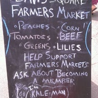 Photo taken at Davis Square Farmers' Market by Leah R. on 8/24/2011