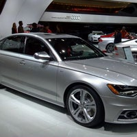 Photo taken at Audi Stand at Detroit Auto Show by Dave H. on 1/13/2012