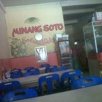Photo taken at Minang Soto by akbar r. on 2/11/2012