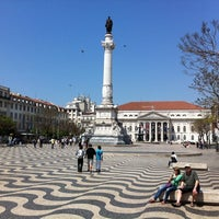 Photo taken at Rossio Square by Joel M. on 4/16/2011