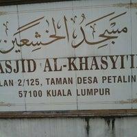 Photo taken at Masjid Al-Khasyi'in by usofmad on 1/10/2012