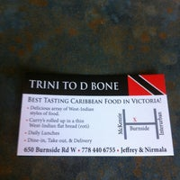 Photo taken at Trini To D Bone by Davin G. on 4/9/2012