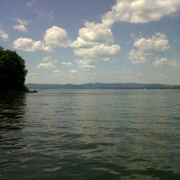 Photo taken at Croton Point Beach by Jess M. on 7/8/2012