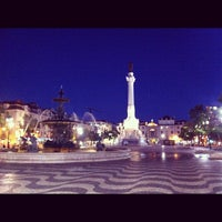 Photo taken at Rossio Square by David L. on 7/22/2012
