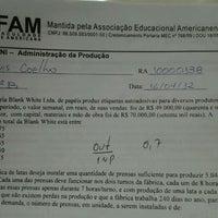 Photo taken at Faculdade de Americana (FAM) by Natália B. on 5/7/2012