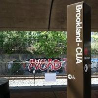 Photo taken at Brookland-CUA Metro Station by Luke W. on 8/28/2012