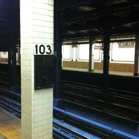 Photo taken at MTA Subway - 103rd St (1) by George R. on 7/14/2012